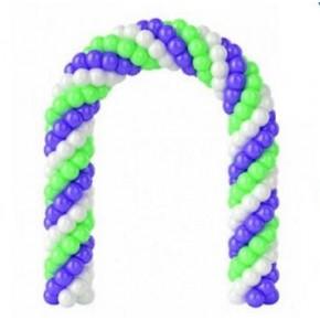 Арка из шариков пастель - три цвета 12-ти дюймовые (1 метр)