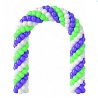 """Гирлянды и цифры из радужных шариков: арка из разноцветных шариков - три цвета 12"""" шарики (1 метр)"""