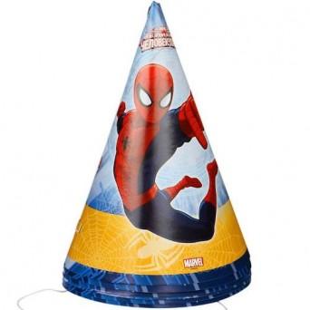 Сервировка-украшение застолья: Колпак Marvel Человек-Паук 6шт/G